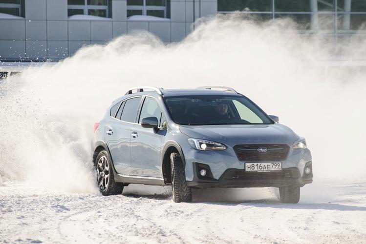 В Уфе прошел ледовый тест-драйв Subaru